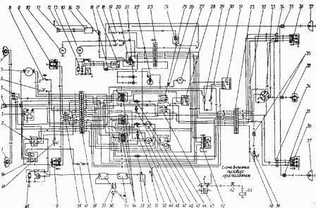 Электросхема трактора мтз 80 263